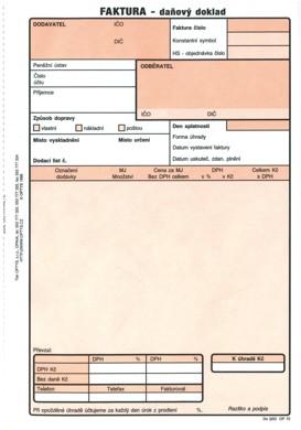 Faktura Daňový Doklad A5 Op1072